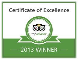 Tripadvisor Certificate of Excellence 2012