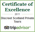 Tripadvisor Certificate of Excellence 2011