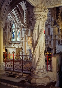 Apprentice Pillar at Rosslyn Chapel