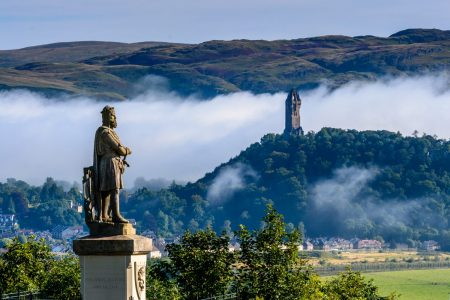 Bruce statue and Wallace Monument